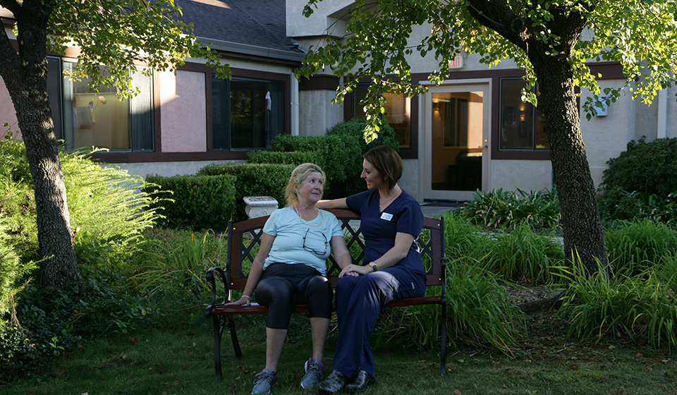 Out door facilities are important for the healing process.  There are private outdoor areas for patient's to enjoy the outdoors with our skilled staff or even family.